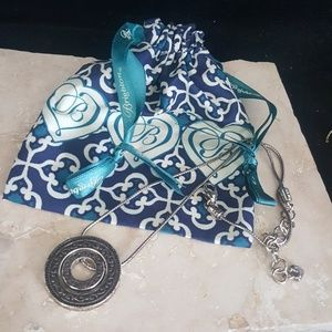 Brighton Disc Necklace with Drawstring Pouch